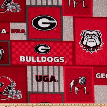 Georgia Patch Collegiate Fleece Fabric