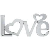 Love Mirrored Wall Decor
