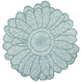 Mint Metallic Daisy Placemat