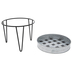 Galvanized Metal Tray With Stand - Small