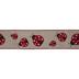 Ladybugs Wired Edge Ribbon - 2 1/2