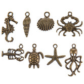Antique Gold Sea Creature Charm Embellishments
