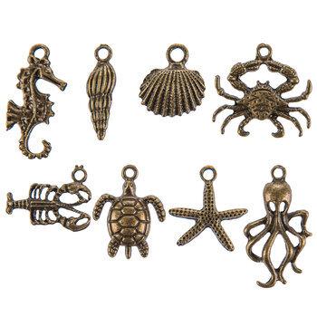 Antique Gold Sea Creature Charm Embellishments