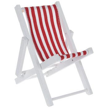 Red & White Striped Beach Chair