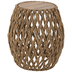 Woven Hyacinth Wood Accent Table