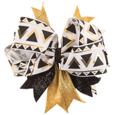 Gold & Black Triangle Layered Bow Hair Clip