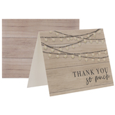 Wood & Lights Thank You Cards