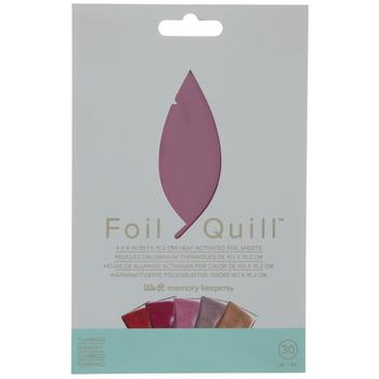 Flamingo Foil Quill Sheets