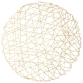 Gold Round Woven Tinsel Placemat