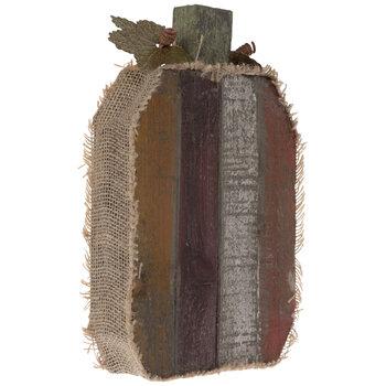 Rustic Wood Pallet Pumpkin - Tall