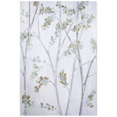 Mint & Gold Leaf Branches Canvas Wall Decor