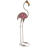 Speckled Metal Flamingo