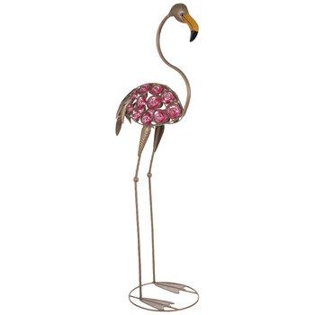 Speckled Metal Flamingo