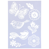 Birds & Butterfly Stencil
