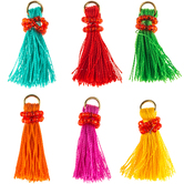 Colorful Tassel Pendants With Seed Beads