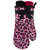 Pink & White Leopard Print Oven Mitt & Kitchen Towels
