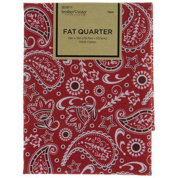 Red Paisley Fat Quarter