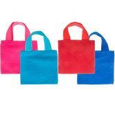 Mini Woven Canvas Tote Bags