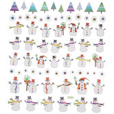 Snowman & Trees Foil Stickers