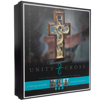 Hand Scraped Rustic Wood Unity Cross