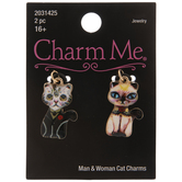 Cat Couple Charms