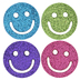 Glitter Smiley Face Shank Buttons