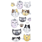 Translucent Cats Stickers
