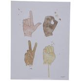 Love Sign Language Wood Wall Decor