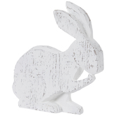 Distressed White Sitting Bunny