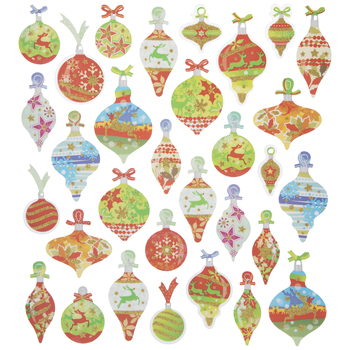 Christmas Ornaments Glitter Stickers
