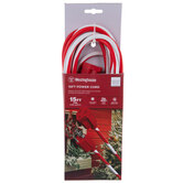 Red & White Striped Single Outlet Extension Cord