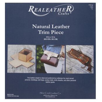 Natural Leather Trim Piece
