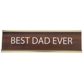 Best Dad Ever Name Plate