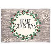 Merry Christmas Wreath Doormat