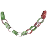 Red, White & Green Paper Chain Craft Kit