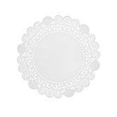 """White Grease Proof Doilies - 8"""""""