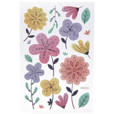 Pink, Purple & Yellow Floral Removable Stickers