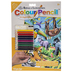 Jungle Animals Color Pencil By Number Kit