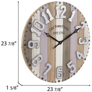 Striped Wood Pallet Wall Clock