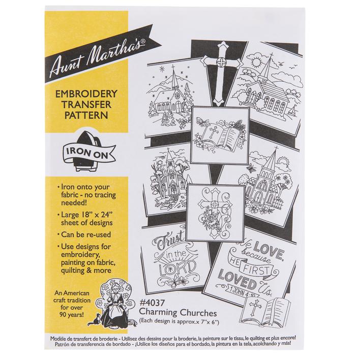 Charming Churches Embroidery Transfer Sheet Hobby Lobby 1968759
