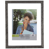 """Gray Wood Float Wall Frame - 8"""" x 10"""""""