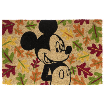 Mickey Mouse & Leaves Doormat