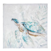 Painted Sea Turtle Canvas Wall Decor