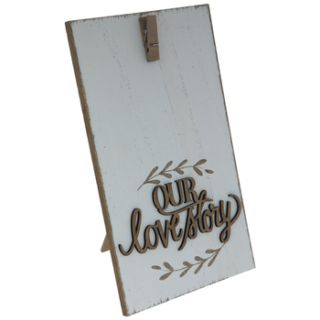 Our Love Story Wood Clip Frame