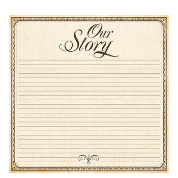 """Our Story Scrapbook Paper - 12"""" x 12"""""""