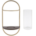 Gold & Brown Oval Metal Wall Sconce