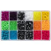 Chalkboard Alphabet Plastic Bead Box