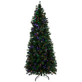Slim Yuletide Pine Pre-Lit Christmas Tree – 7 1/2'