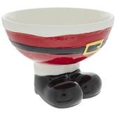 Santa Suit & Boots Pedestal Bowl