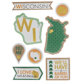 Wisconsin Icons 3D Stickers